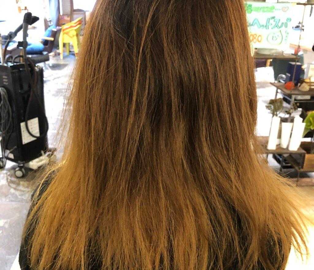 髪質改善ココナッツ矯正施術前
