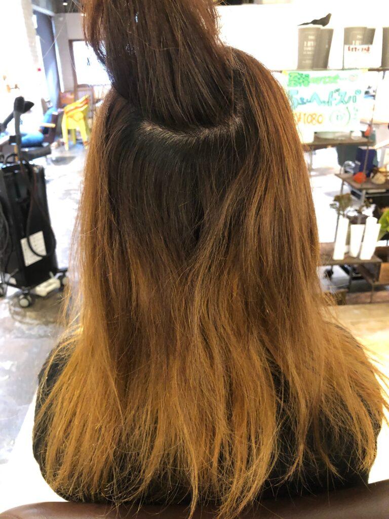 Mさん髪質改善施術前の写真